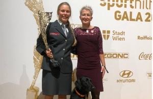 Yvonne Marzinke und Carina Edlinger, Lotterien Sporthilfe Gala 2019, Foto: privat