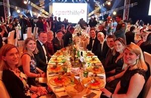 Lotterien Sporthilfe Gala am Tisch von Geberit, Foto: privat