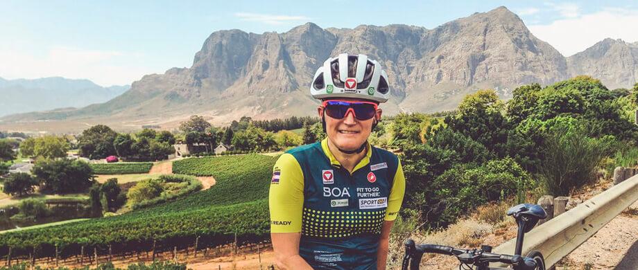 Yvonne Marzinke auf Trainigslager in Südafrika