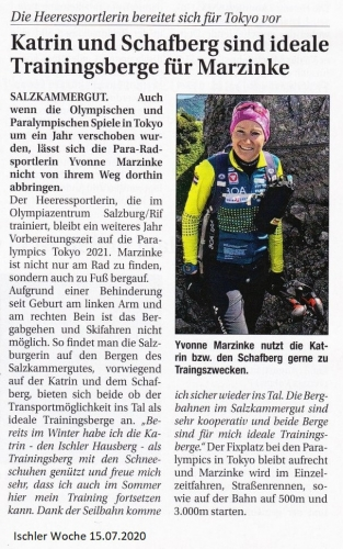 Yvonne Marzinke, Ischler Woche Juli 2020