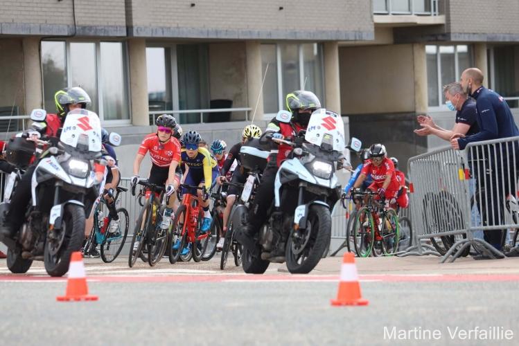 Yvonne Marzinke beim UCI Worldcup Ostende, Belgien